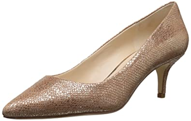 eacad160f1038 Amazon.com | Nine West Women's Xeena Metallic Dress Pump, Natural ...