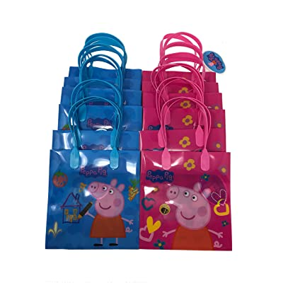 Peppa Pig Party Favor Goody Tote Candy Bag Great Child Birthday Gift 12