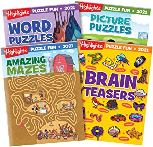Highlights Puzzle Fun Collection 2021 4-Book Set