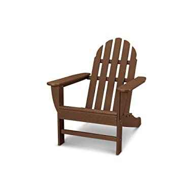 POLYWOOD AD4030TE Classic Outdoor Adirondack Chair, Teak