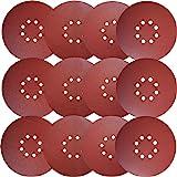 Sackorange 30 PCS 9-Inch 8-Hole Hook-and-Loop Sanding Discs Sander Paper for Drywall Sander(5 Each of 80 100 120 180 240…