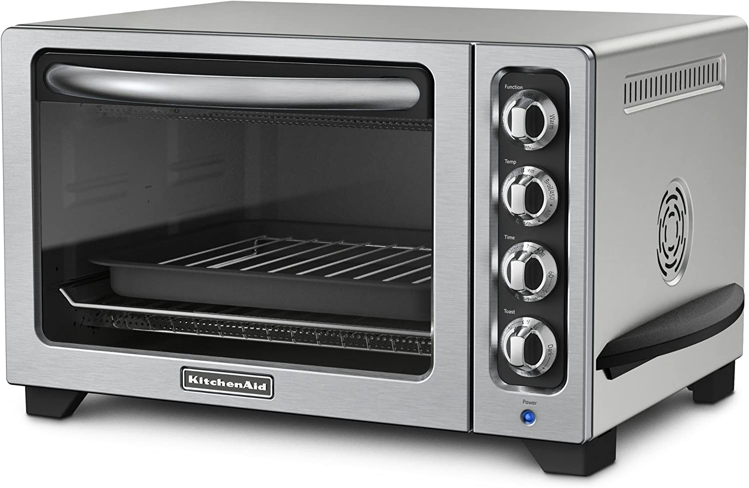 Amazon Com Kitchenaid Kco223cu 12 Inch Convection Countertop Oven With Silver Handle Contour Silver Toaster Ovens Kitchen Dining
