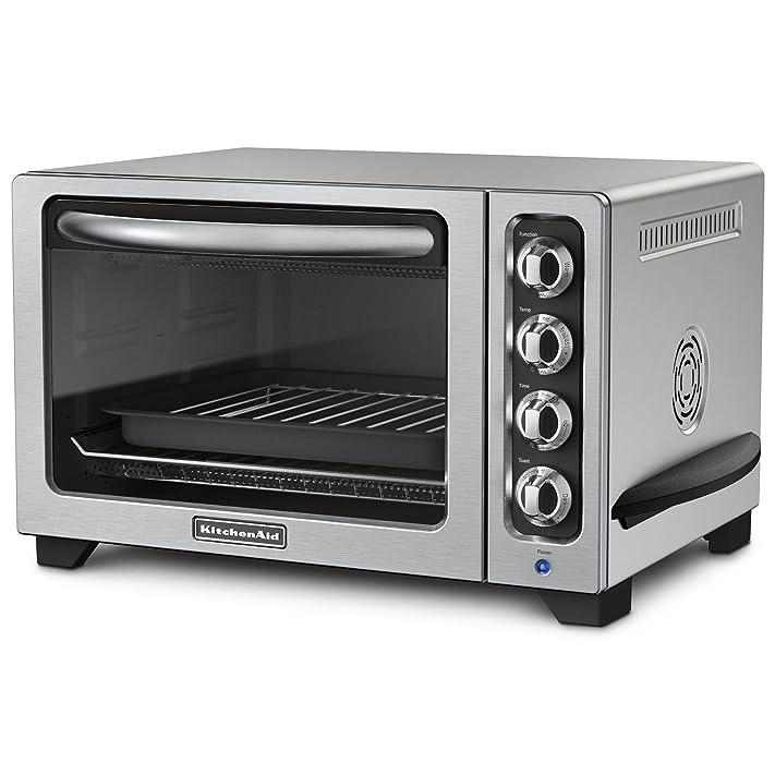 KitchenAid KCO223CU Convection Countertop Oven, Contour Silver ...