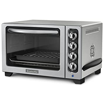 Nice KitchenAid KCO223CU 12 Inch Convection Countertop Oven With Silver Handle,  Contour Silver Nice Design