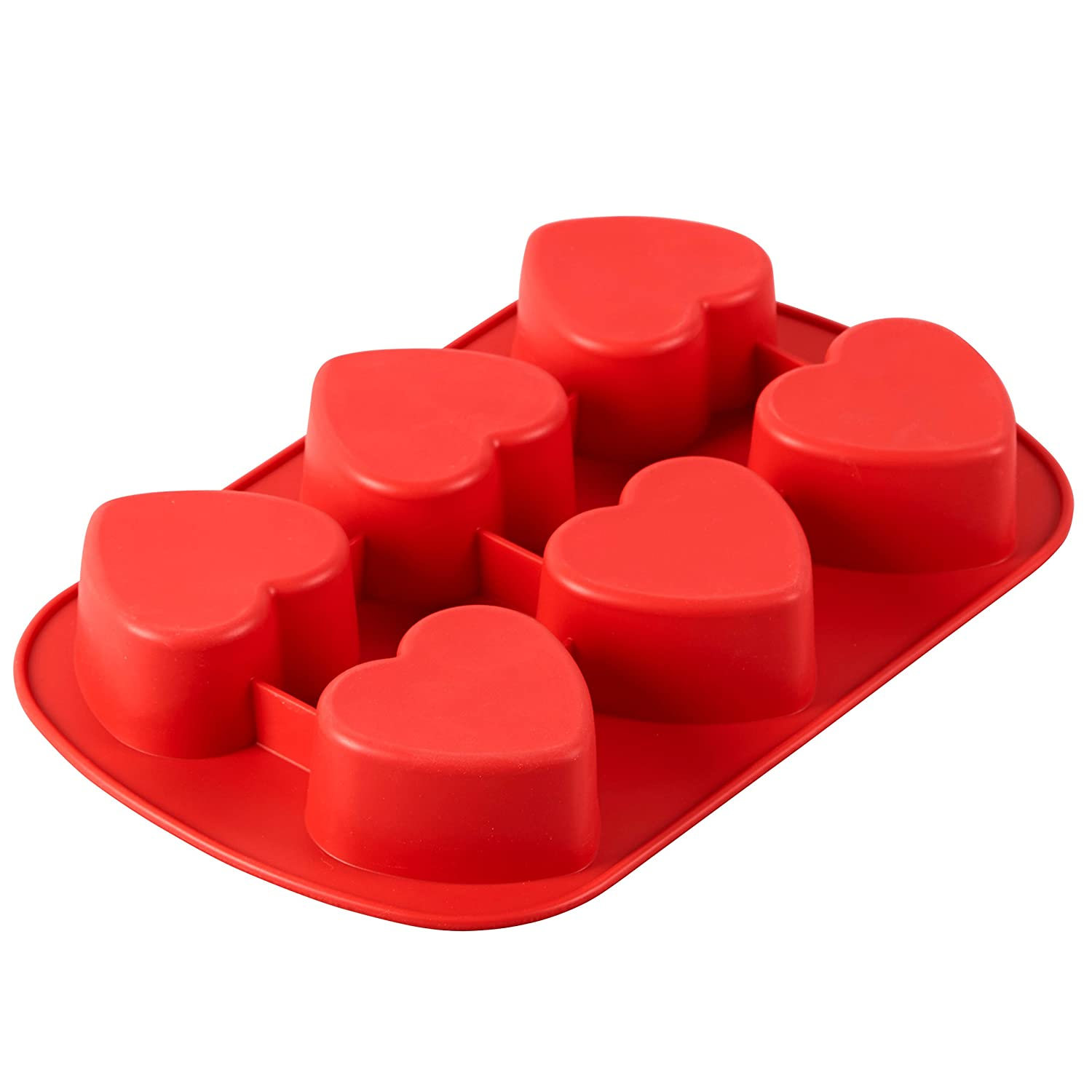 6-Cavity Mold for Heart Shaped Cookies and Candy 2105-4824 Wilton Mini Silicone Heart Mold