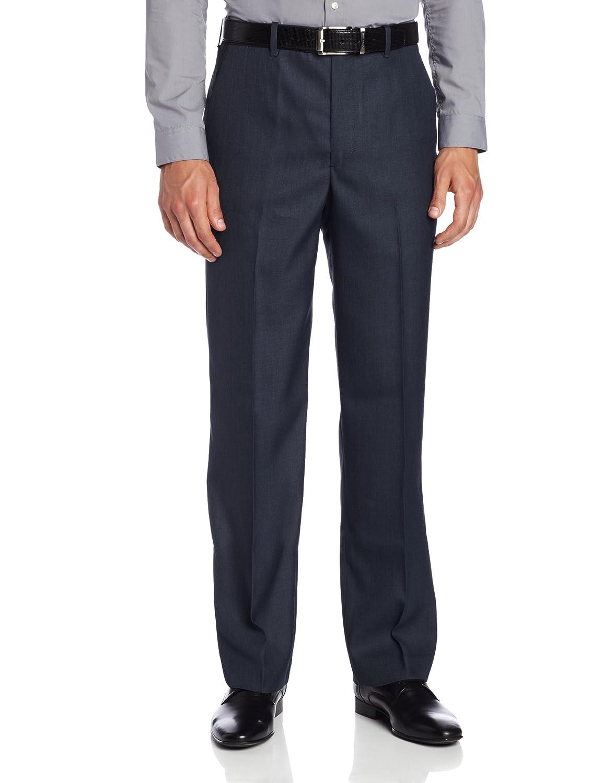 Perry Ellis Men's Portfolio Classic-Fit Flat-Front Sharkskin Pant Perry Ellis Men' s Bottoms PGCS040