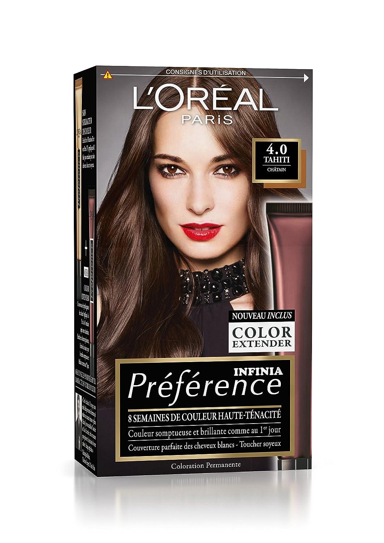Préférence L'Oréal Paris Coloration Permanente 4.0 Châtain: Amazon.fr:  Beauté et Parfum