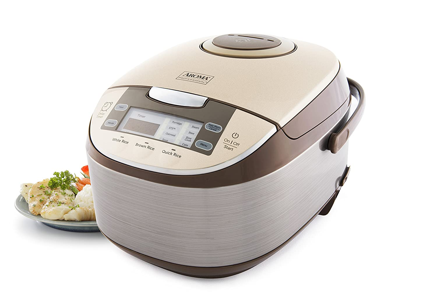 Amazon: Aroma Professional 6 Cups Uncooked Rice Cooker, Food Steamer,  Silver (arc6106): Kitchen & Dining