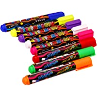 Trendy Tap Liquid Chalk Markers, Fluorescent Neon Chalkboard Marker Pens for Glass, LED Writing Boards Window whiteboard markers (Pack Of 5)