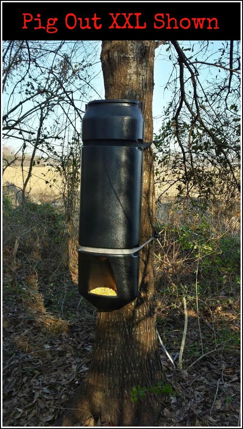 Made in USA Big Rack Innovations No T-Post Hardware Included Tree-Only Model: Deer Pig Out Gravity Game Feeder Kit High Quality Gravity Deer Corn /& Protein Pellet Feeders for Wildlife /& Livestock Quickly Straps to Virtually Any-Sized Tree