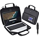 KEISKEI Chromebook 11-11.6 inch Laptop Work-in Carrying case,Notebook Cover, EVA Always on Laptop Sleeve with Pouch and Shoul