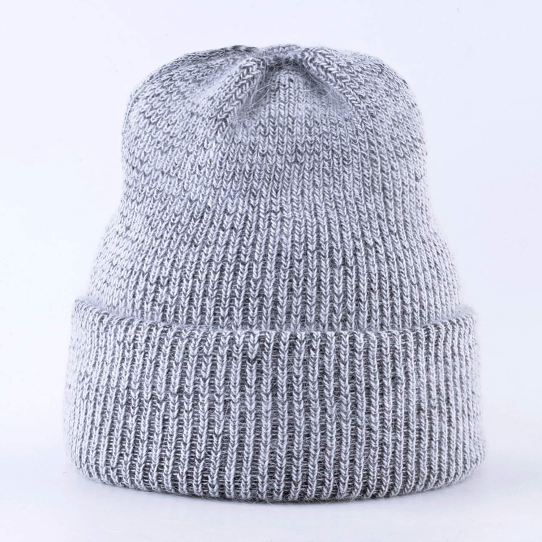 Womens Knitted Wool Beanies Rabbit Fur Knitting Hats for Women Double Layer Soft Skullies Caps Bonnet