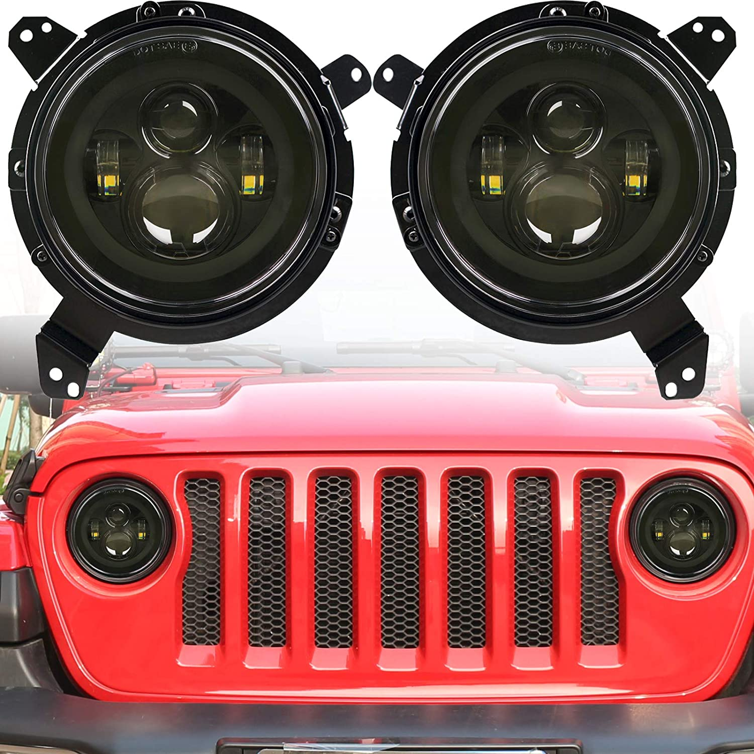HOZAN JL Animer and price revision Headlights 7inch Round LED with 9 Black inc List price
