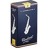 Vandoren SR213 - Caja de 10 cañas tradicional n.3 para saxofón alto, madera