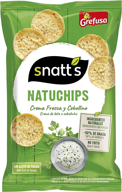 Grefusa Snatts Natuchips Crema Fresca y Cebollino, 85g