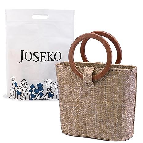 3a40d63584 Borsa da Spiaggia Estiva, JOSEKO Womens Straw Handbag Borsa a Tracolla di  Paglia per i