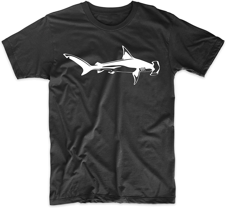 Great Hammerhead Shark Silhouette Simple Shark Design T-Shirt