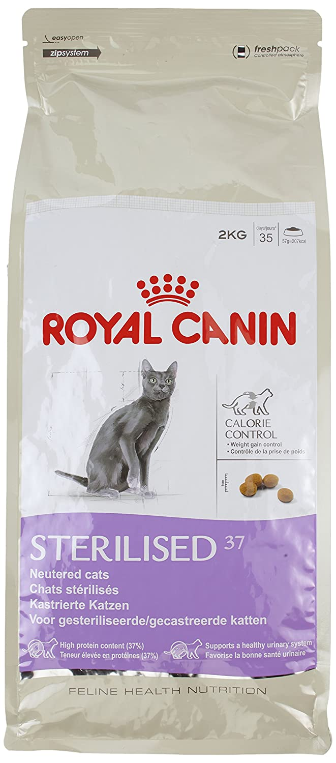 ROYAL CANIN Alimento para Gatos Sterilised 37-2 kg: Amazon.es: Productos para mascotas