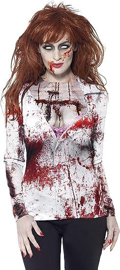 Smiffys - Disfraz de Zombi Mujer, Color Blanco (44372L): Amazon ...