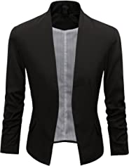 Beninos Women's Folding Sleeve Office Blazer Sport Coat