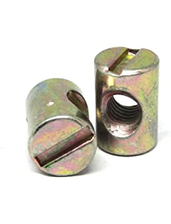 Amazon Com Barrel Nut For Furniture Bolt Slotted M6 X 14mm Long Zp