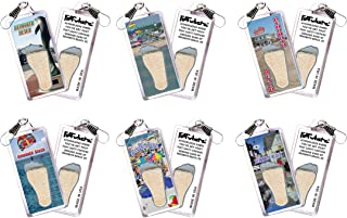 "product image for Rehoboth Beach""FootWhere"" Souvenir Zipper-Pulls. 6 Piece Set. Made in USA"