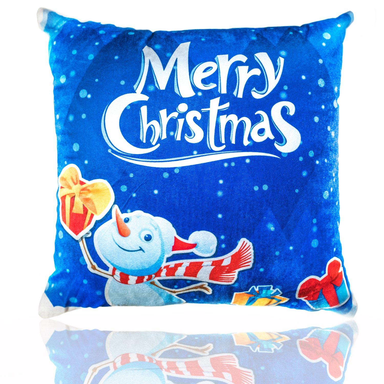 Amazon.com: Merry Christmas Throw almohada – Light Up LED ...