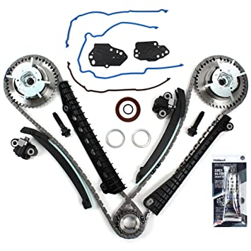 New ETCK460GSI Timing Chain Kit, Timing Cover Seals, Cam Phasers w/Mounting  Bolts, RTV Gasket Maker for 2004-08 Ford 5 4L (3-Valve) Engine Expedition