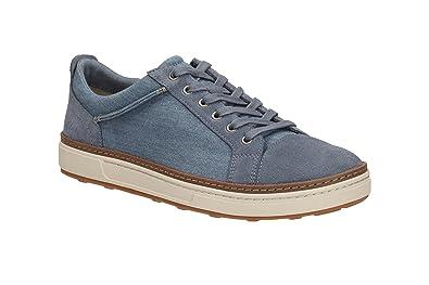Clarks Lorsen Edge Herren Leder Sneaker blau blau, blau