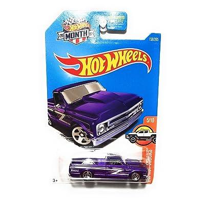 Hot Wheels 2020 HW Hot Trucks '67 Chevy C10 Hoosier 158/365, Purple: Toys & Games