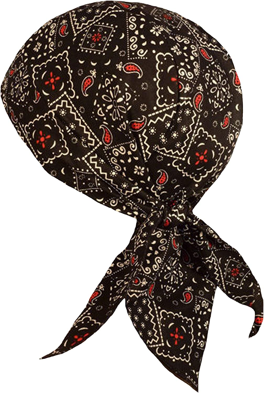 Grey Black Paisley Headwrap Bandanna Sweatband Durag Capsmith Free Shipping