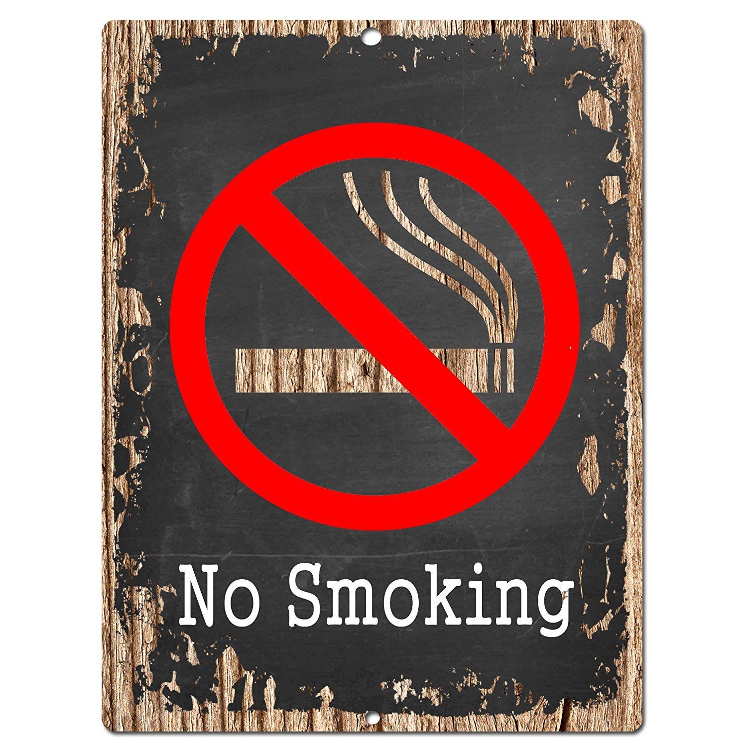 No Smoking Chic Sign Rustic Vintage Chalkboard style Retro Kitchen Bar Pub Coffee Shop Wall Decor 9x12 Metal Plate Sign Home Store Decor Plaques