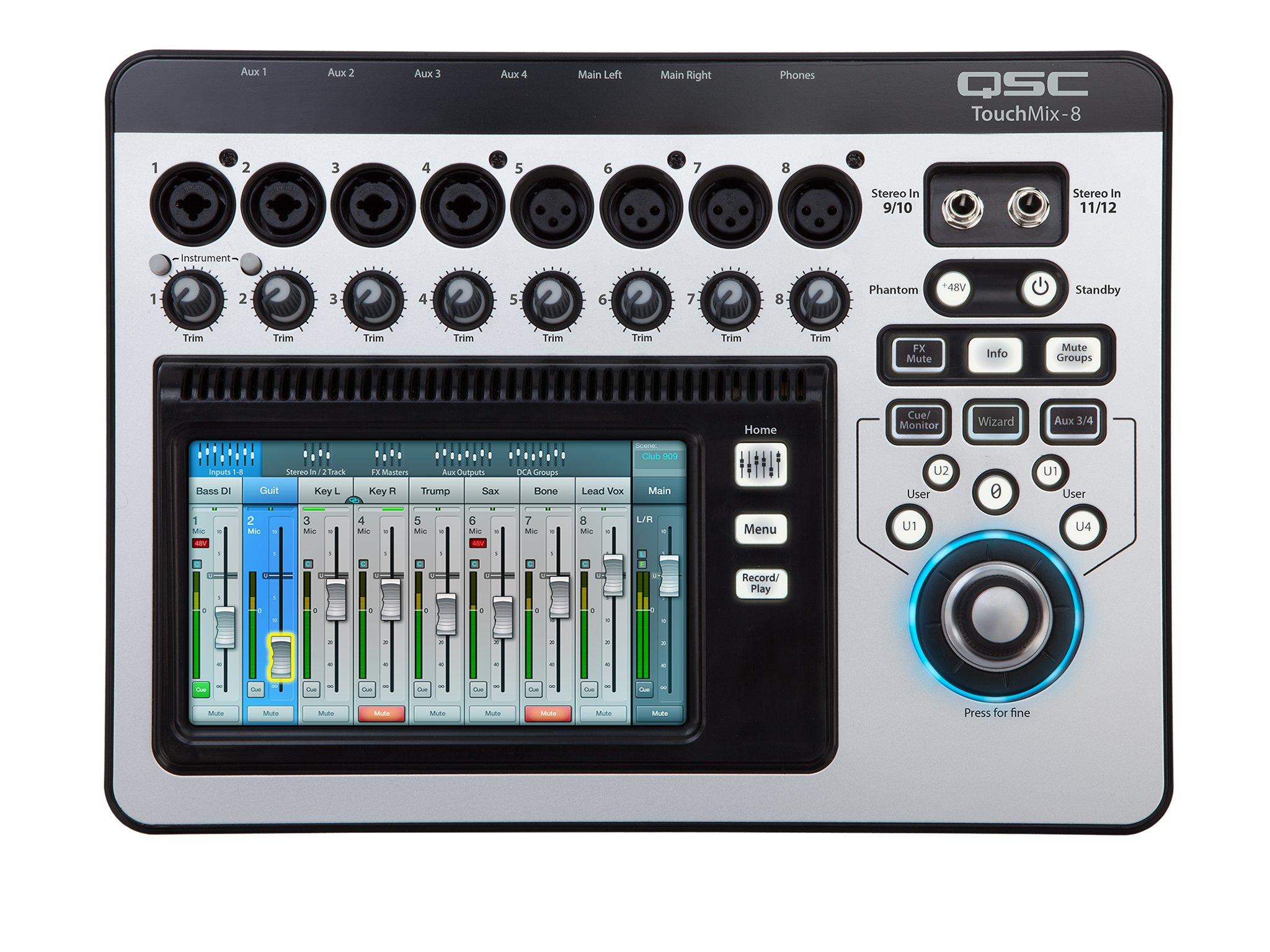 QSC TouchMix Compact Digital Mixer with Bag