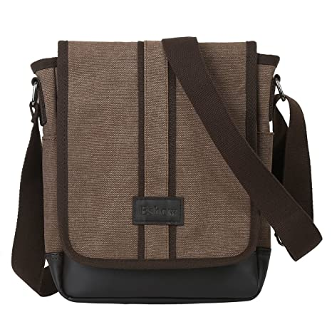 Eshow Borsa a Tracolla in Tela da Uomo Borse a Spalla Monospalla Messenger  Bag per Lavoro 707ea7b6cf9