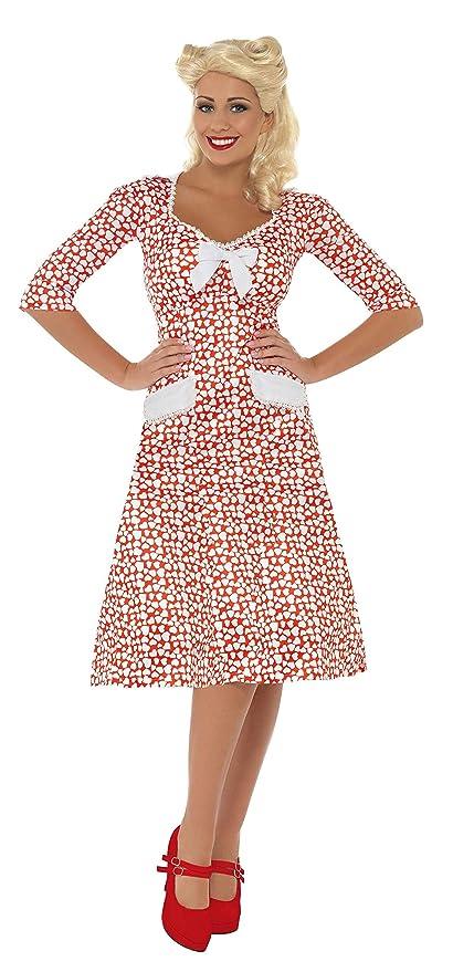 Smiffys - Disfraz de de la Segunda Guerra Mundial para Mujer, Talla S (39384S)