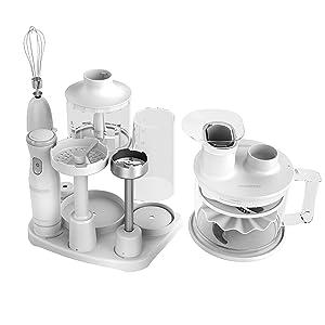BLACK+DECKER Handiprep Express 6-in-1 Universal Kitchen Tool, White, HB5500W