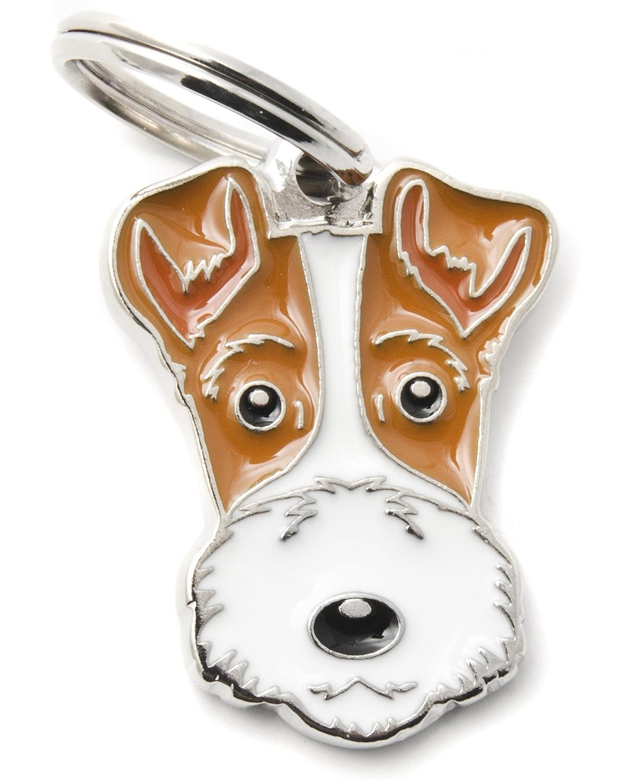 Médaille MyFamily Fox-terrier plaque chien gravure gratuite coutume chat MF65