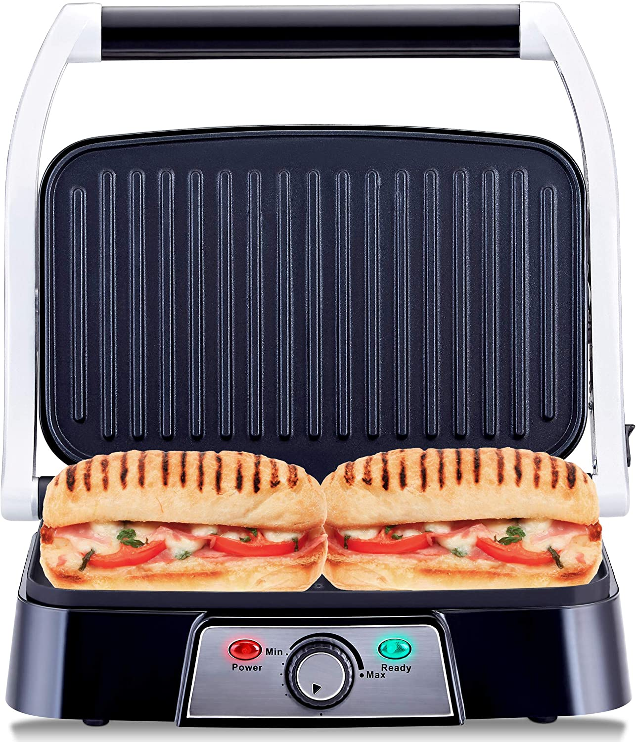 Netta Panini Maker Health Grill Sandwich Toaster Panini Press 2 Slice Non Stick Grill Plates 1500w Stainless Steel Amazon Co Uk Kitchen Home
