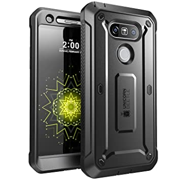 SUPCASE Funda para LG G5 2016 [Serie Unicorn Beetle Pro] Case Completa Resistente con Protector de Pantalla Integrado Negro