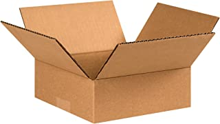 """product image for Partners Brand P883 Flat Corrugated Boxes, 8""""L x 8""""W x 3""""H, Kraft (Pack of 25)"""