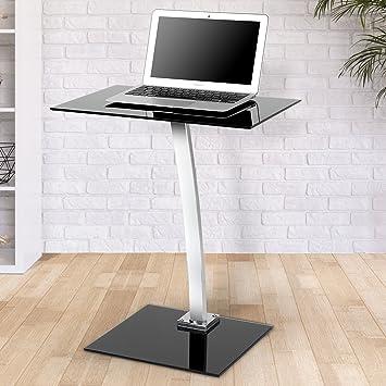 Miadomodo - Mesa portátil (para Ordenador) - diseño Moderno - Aprox. 48/32/58 cm - Color Negro: Amazon.es: Hogar