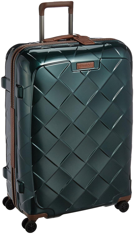 [ストラティック] STRATIC スーツケースレザー&モア 日本限定版 大型 グッドデザイン賞2016受賞 本革 容量100L 縦サイズ75cm 重量4.36kg 3-9902-75 B01LX0TTF4 ダークグリーン ダークグリーン