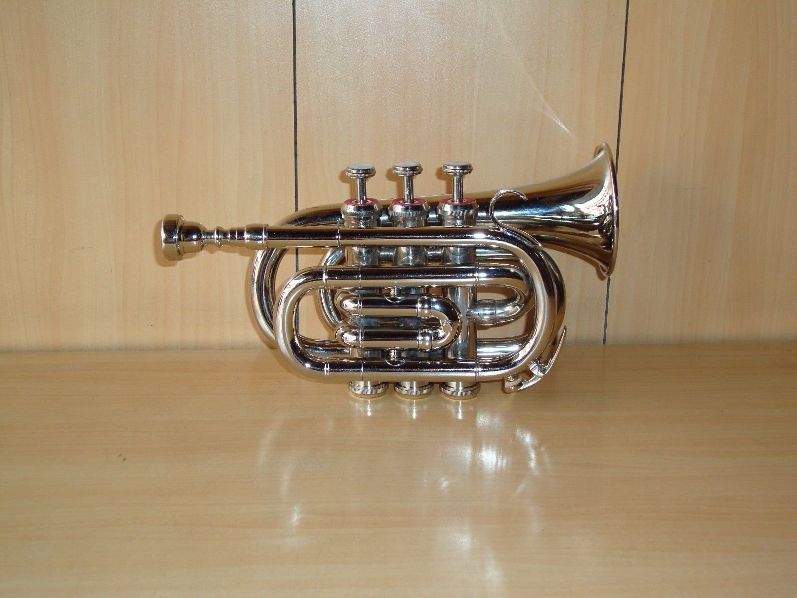 Shreyas Pocket Trumpet Chrome Finish B-Flat With Case + Mp Silver