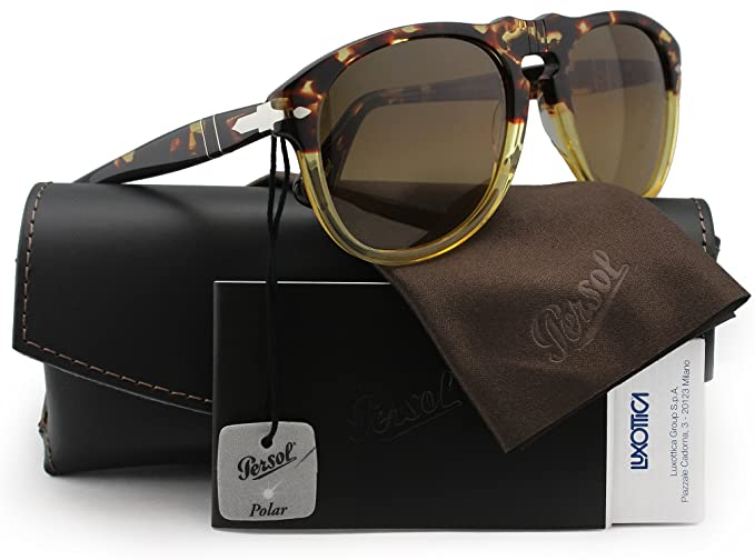 8e3dade653a Image Unavailable. Image not available for. Colour  Persol PO0649 Polarized  Sunglasses Havana ...