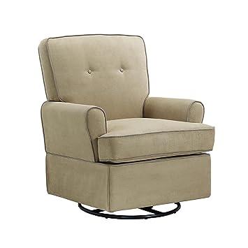 Baby Relax The Tinsley Nursery Swivel Glider Chair, Beige