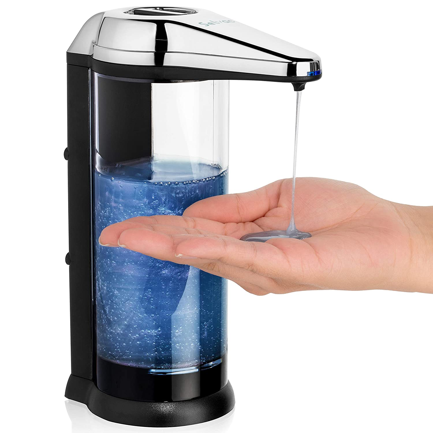 Touchless soap Dispenser - ANTI-LEAKAGE Soap Dispenser-Accurate Infrared Motion- Rusting Free- Enjoy Hands free Soap Dispenser for up To a Year before Having to Change Batteries-Back Battery Compart
