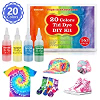 Vanstek Tie Dye DIY Kit, 20 Colors Tie Fabric Dye for Women, Kids, Men Gift, with...