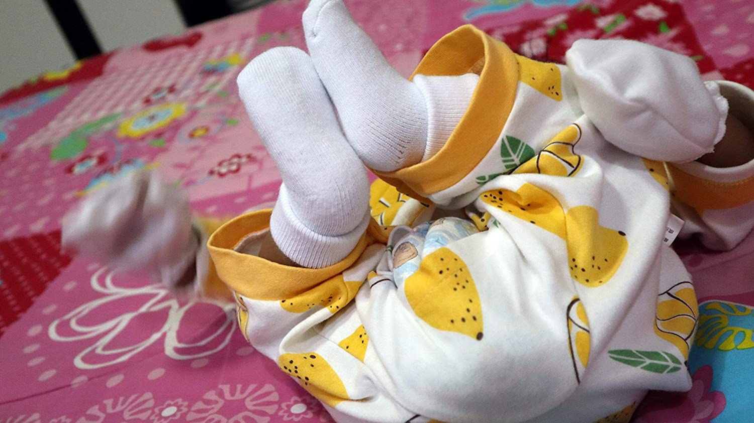 RATIVE Newborn 0-6 Month Thick Terry Turn Cuff Socks For Unisex Baby Boys and Girls