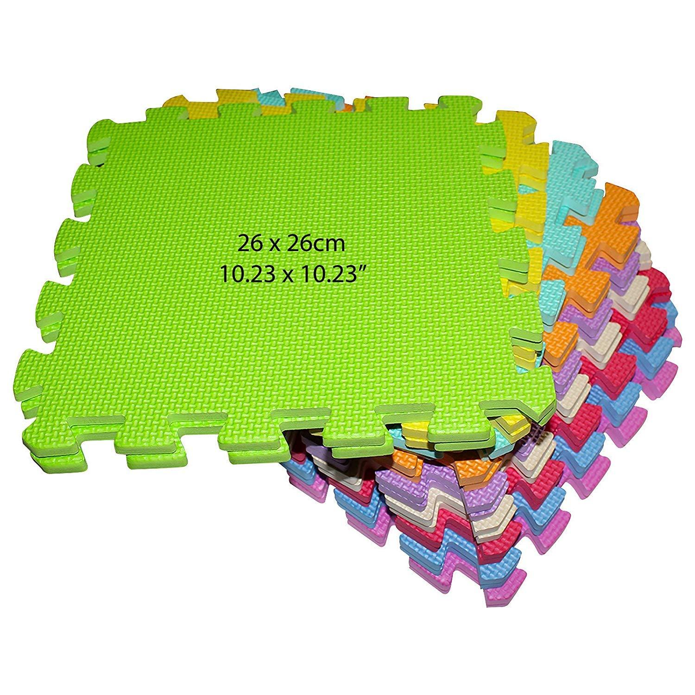 Bordes Entrelazados Gruesa y Suave para Gatear y Aprender 26 x 26 cm sin Olor 100/% Segura No T/óxica Alfombra Infantil Puzzle para Ni/ños Gimnasio Zona de Juegos Ejercicio de Yoga 18 Pcs