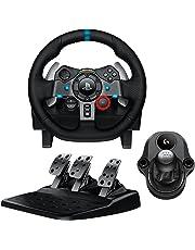 Logitech G29 Driving Force Racing Wheel & Pedals Plus Gear Shifter Bundle (PS4 / PS3 & PC) UK-Plug